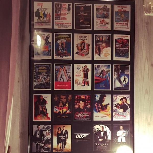 上映された007シリーズのポスター