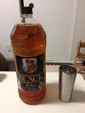 ニッカ ブラックニッカクリアのペットボトル