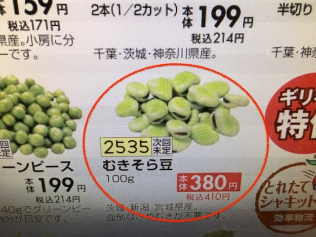 そら豆の値段