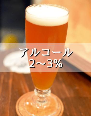 アルコール度2~3%