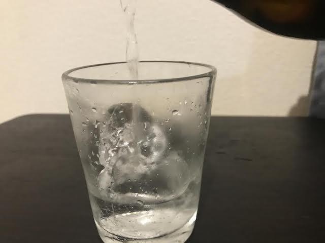 グラスに注いだ三岳