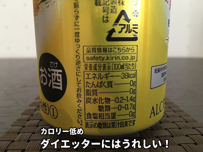 本搾りレモンのカロリー