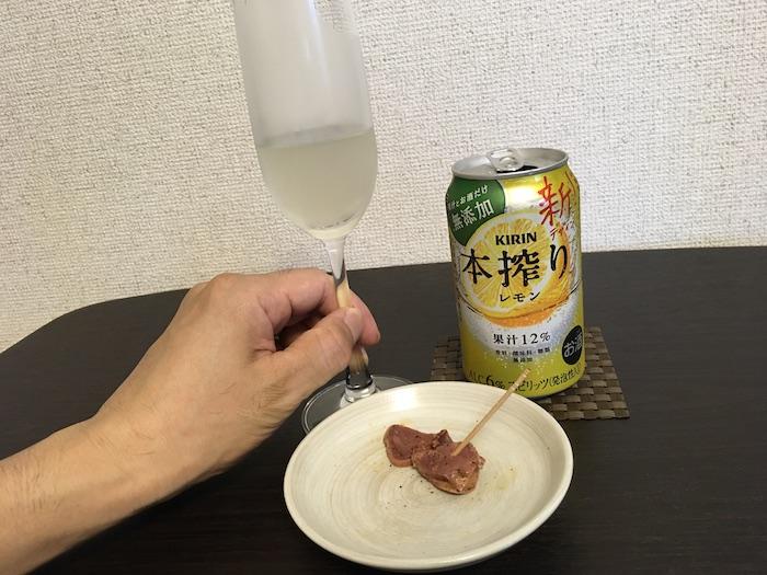 イベリコ豚タンと本搾りレモン