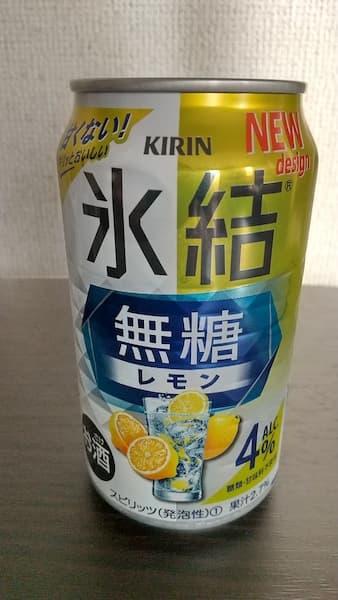 キリン氷結無糖レモン4%の缶